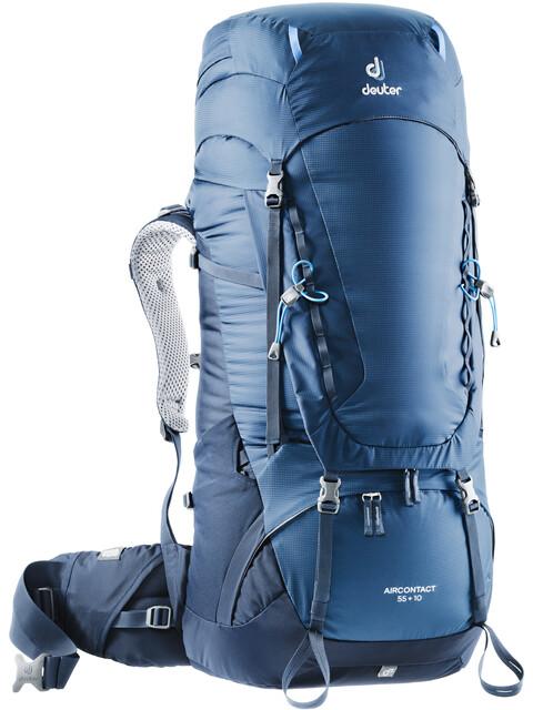 Deuter Aircontact 55 + 10 Rygsæk blå